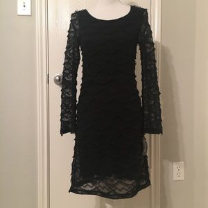 NWT black lace dress by INC - small